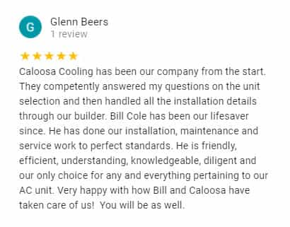 Google Review by Glenn Beers