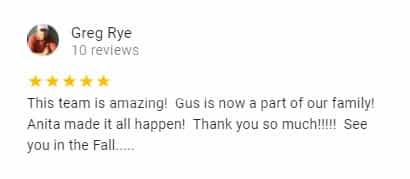 Google Review by Greg Rye