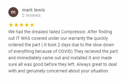 Google Review by Mark Lewis
