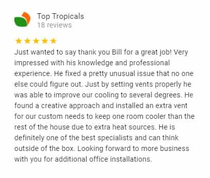 Google Review by Top Tropicals