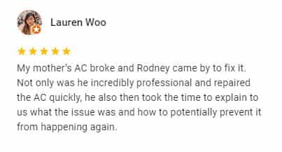 Google Review by Lauren Woo