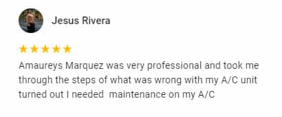 Google Review by Jesus Revira